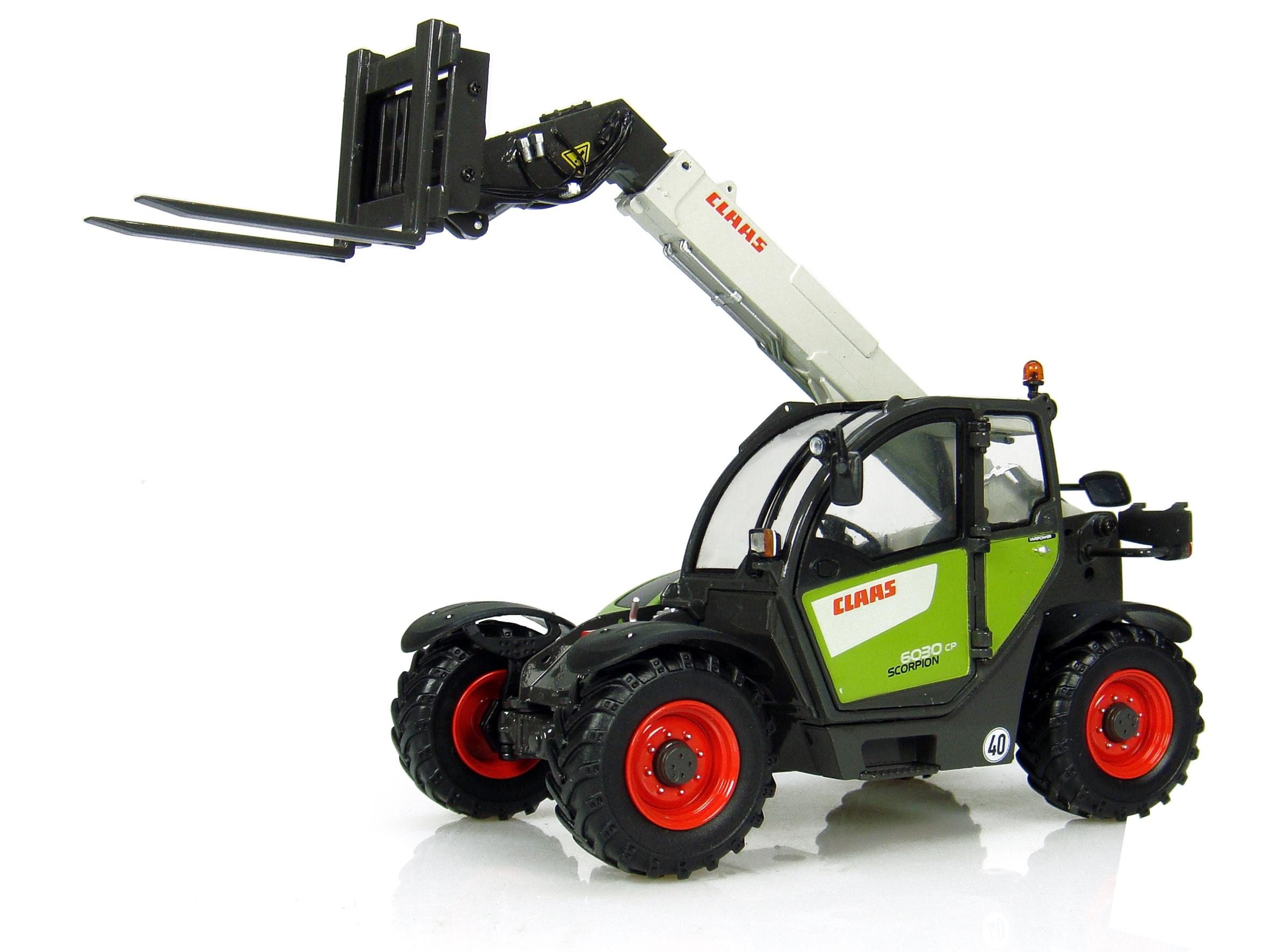 Claas scorpion 6030 avec fourche fabriqu par universal hobbies echelle 1 32 - Tracteur avec fourche ...