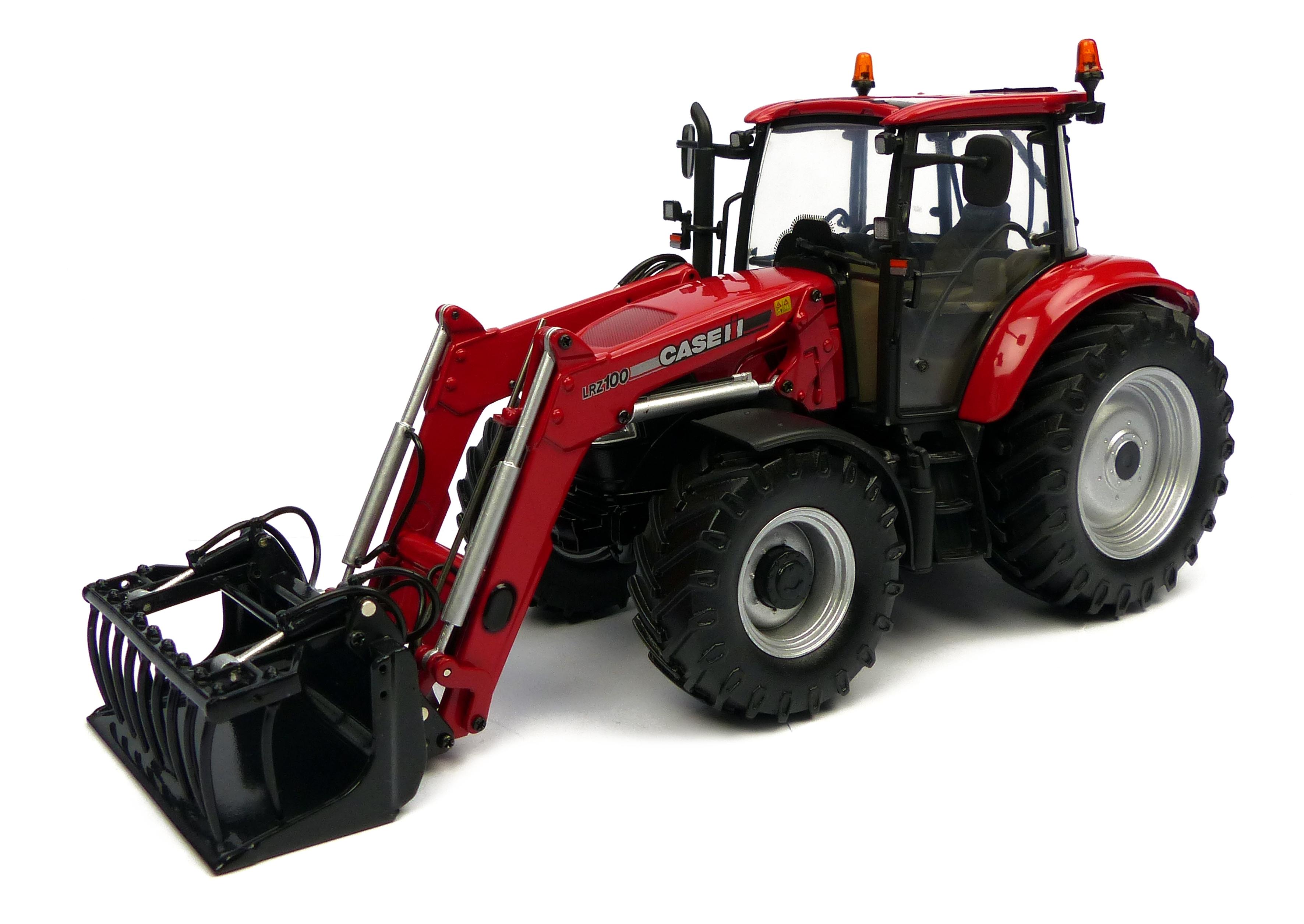 Case farmall u 115 avec fourche avant fabriqu par universal hobbies echelle 1 32 - Tracteur avec fourche ...