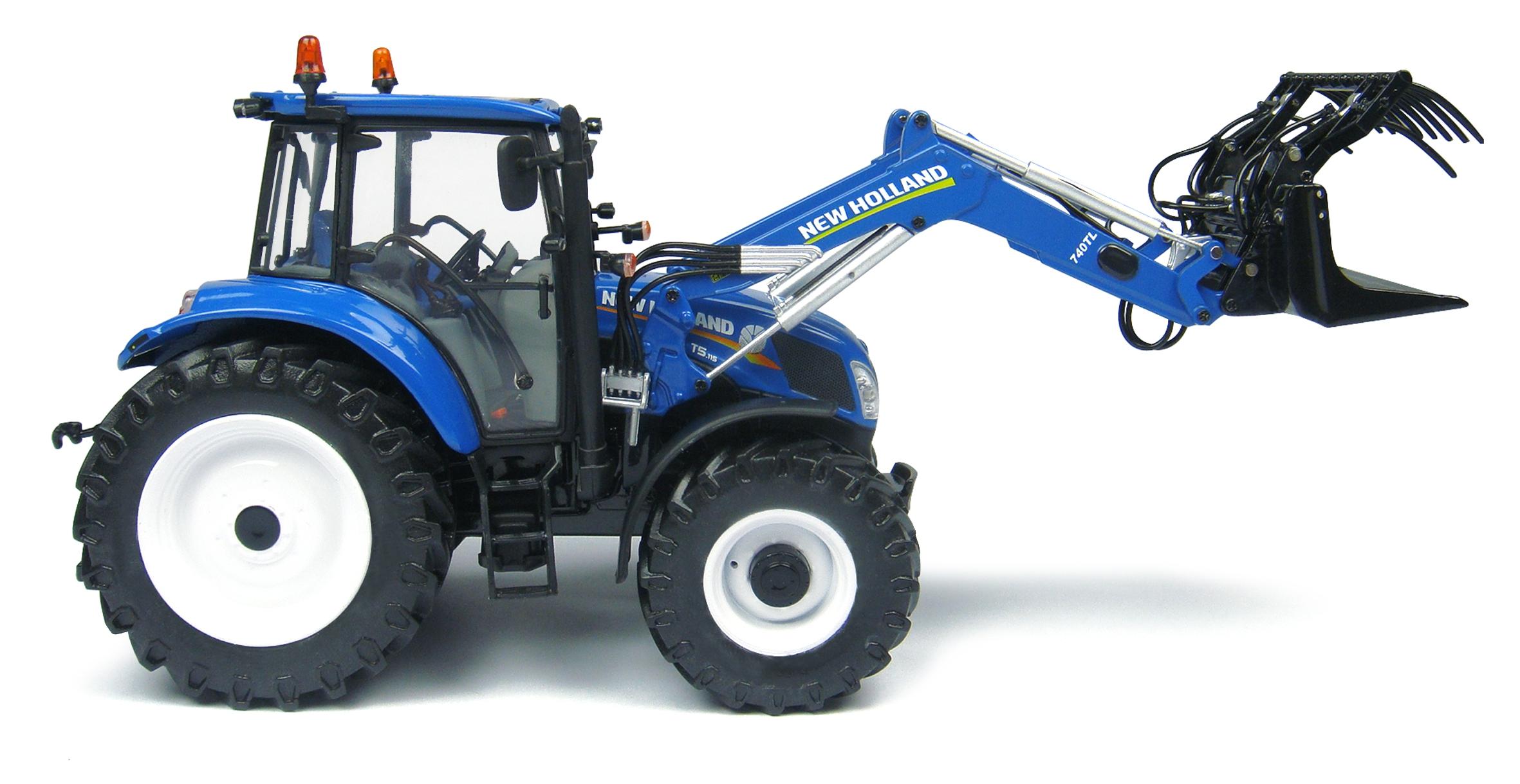 New holland avec fourche avant fabriqu par universal hobbies echelle 1 32 - Tracteur avec fourche ...