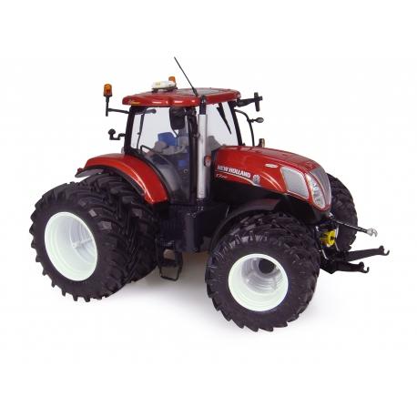 NEW HOLLAND T7 - 8 roues - Terracotta - échelle 1:32 -