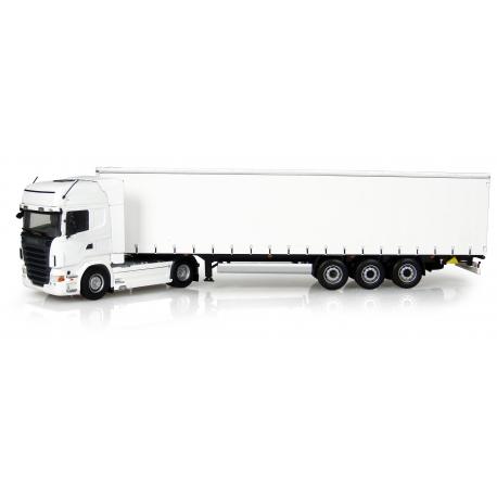Truck Scania R 730 + Trailer Krone Profi Liner - White -