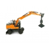 Doosan DX160W with 2 attachments : Tilting bucket & Clamshell bucket